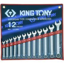 King Tony 12 részes csillag-villáskulcs készlet 8-22 mm