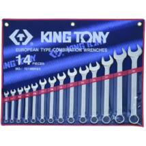 King Tony 14 részes csillag-villáskulcs készlet 10-32 mm