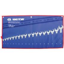 King Tony 18 részes csillag-villáskulcs készlet 6-24 mm