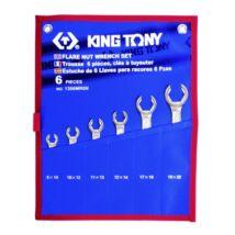 King Tony 6 részes fékcsőkulcs készlet 8-22mm