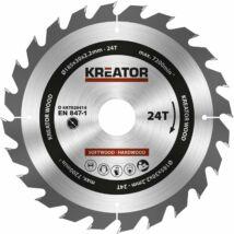 Kreator KRT020414 körfűrészlap 185x30mm, 24 fog + 3db szűkítő gyűrű
