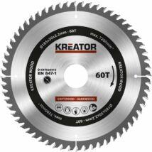 Kreator KRT020415 körfűrészlap 185x30mm, 60 fog + 3db szűkítőgyűrű