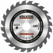 Kreator KRT020416 körfűrészlap 190x30mm, 48 fog + 3db szűkítőgyűrű
