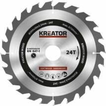 Kreator KRT020418 körfűrészlap 200x30mm, 24 fog + 3db szűkítőgyűrű