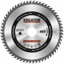 Kreator KRT020419 körfűrészlap 200x30mm, 60 fog + 3db szűkítőgyűrű