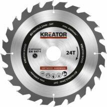 Kreator KRT020420 körfűrészlap 210x30mm, 24 fog + 3db szűkítőgyűrű
