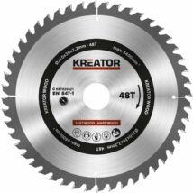 Kreator KRT020421 körfűrészlap 210x30mm, 48 fog + 3db szűkítőgyűrű