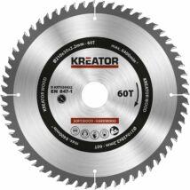 Kreator KRT020422 körfűrészlap 210x30mm, 60 fog + 3db szűkítőgyűrű