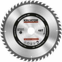 Kreator KRT020425 körfűrészlap 250x30mm, 48 fog + 3db szűkítőgyűrű