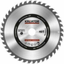Kreator KRT020427 körfűrészlap 254x30mm, 40 fog + 3db szűkítőgyűrű