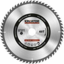 Kreator KRT020428 körfűrészlap 254x30mm, 60 fog + 3db szűkítőgyűrű