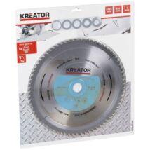 Kreator KRT022450 alumínium körfűrészlap 305x30mm, 72 fog + 5db szűkítőgyűrű
