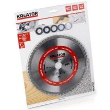 Kreator KRT023350 körfűrészlap 254x30mm, 60 fog + 5db szűkítőgyűrű