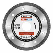 Kreator KRT085100 gyémánt vágótárcsa 115mm profi turbó