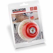 Kreator KRT150202 fazékkefe 75mm M14 réz