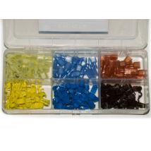 Licota Tools kábel T-alakú szigetelt leágaztató gyorscsatlakozó készlet, 0.5-6mm2, 150 db (3X25pár)