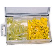 Licota Tools kábel T-alakú szigetelt leágaztató gyorscsatlakozó készlet, 4-6mm2, 50 db (25pár)