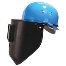 Lux Optical sisakra szerelhető hegesztőpajzs, hőálló polipropilén alapanyagú, fekete, 90x110mm-es látómezővel