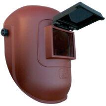 Lux optical felhajtható üvegű hegesztőpajzs, barna, 90x110mm-es látómezővel