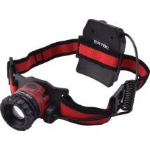 LED fejlámpa, 10 W, CREE XPL, 450 Lumen; tölthető akkuval, zoom + 3 funkció (teljes/ 1/4 fényerő, vi