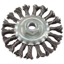 Drótcsiszoló körkefe (sodort, M14×2 sarokcsiszolóra, 115mm)