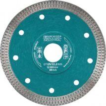 Gyémántvágó, ipari korong, TURBO, extra vékony vágás: 1,2mm vastagság; 125×22,2mm, száraz és vizes vágásra