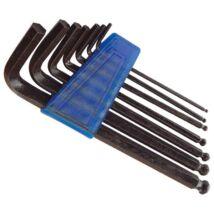 Imbuszkulcs készlet (gömbfej, bliszteren, 7db-os, 2,5-10mm)