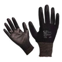 Kötött kesztyű fekete nylon, BUNTING BLACK 10-es méret XL
