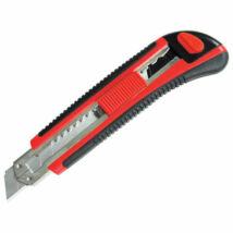 Tapétavágó kés, 18mm gum. nyél fémházas; öntöltős 3 pengével, pótpenge: 9123A (10db) 9134 (horgas törhető-5db)