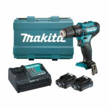 Makita HP333D akkus ütvefúró-csavarbehajtó, 12V (2db 2Ah akkuval és töltővel)