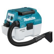 Makita DVC750L szára-nedves porszívó, 6.7kPa, 18V (akku és töltő nélkül)