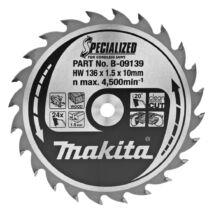 Makita Specialized körfűrészlap, akkus 136x10mm Z24