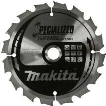 Makita Specialized körfűrészlap, merülő 185x15,88mm Z16
