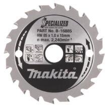 Makita Specialized körfűrészlap, akkus 85x15mm Z20