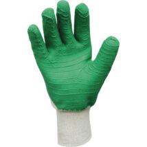 Pamutra mártott, kondenzált, latex munkavédelmi kesztyű (9-es)