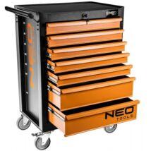 NEO szerszámos kocsi 7 fiókos (103x68x46cm)  129 db-os felszerelve szerszámokkal