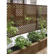 Nortene PRIVAT dekoratív kültéri panel, barna, 1x2m