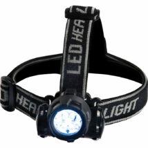 Nagy teljesítményű LED-es fejlámpa újratölthető akkuval
