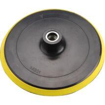 Gumitalp sarok-polírozógéphez, tépőzáras, átmérő: 180mm, M14, max: 8500 ford/perc