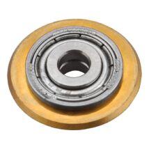 Vágókerék csempevágókhoz, titánium-volfrám-karbid, 22×6×5mm, csapágyas