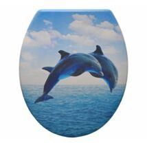 Duroplast műanyag WC ülőkék - delfinek