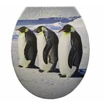 Duroplast műanyag WC ülőkék - pingvinek