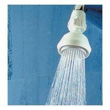 Siroflex Menetes zuhanyrózsa műanyag gömbcsuklóval Fehér