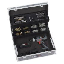 PowerPlus POWE00064 szürke akkus fúró-csavarozó szett kofferben 14,4 V