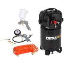 PowerPlus POWX1731 Olajmentes álló kompresszor 24l, 1100W
