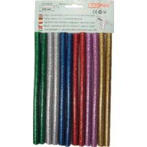 Ragasztópatron gyöngyházfényű színes mix 11x200 mm 12 db