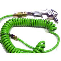 SHPI pneumatikus lefúvató (tisztító) pisztoly PU 5m-es spirális tömlővel