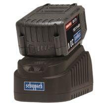 Scheppach ABP4.0-20Li KIT B akkutöltő 20V, 4A + akkumulátor 4Ah