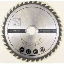 Scheppach körfűrészlap HM 90 gépekhez, 40 fog, 216x30x2,8mm