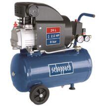 Scheppach HC 25 kompresszor, olajkenésű, 24L, 8bar, 1.5kW, 230V